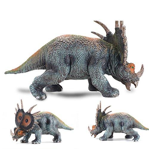LU2000 Solide Simulation Dinosaurier Modell Styracosaurus Plastik Tier Spielzeug Dinosaurier Sammlung Dekoration - Medium (Q7) (Zertifizierung Simulation)