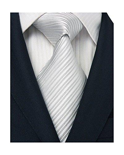 landisun Solid, Set de Cravates Homme 23C Argent Grise
