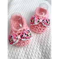 Chaussures de bébé | bottes nouveau-né minnie disney | idée de cadeau de laine | le nodocreativo