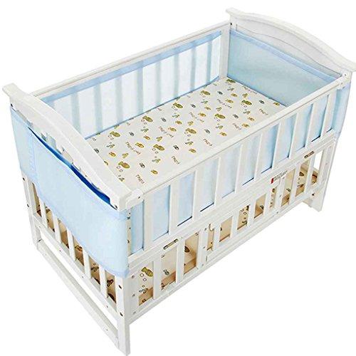 Republe 2 stücke Atmungs Baby Bettwäsche Stoßstange Infant Antikollision Half Around Mesh Net Krippe Liner Neugeborenen Craddle - Baby-krippe Bettwäsche-sets