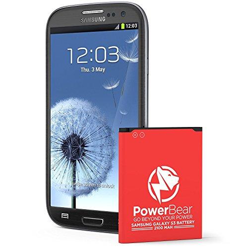 Batería Powerbear Compatible para Samsung Galaxy S3 Upgraded | 2,100 mAh Batería Li-Ion para Galaxy S3 [I9300] | Batería de Repuesto S3 [24 Meses De Garantía]