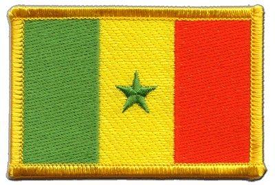 Aufnäher Patch Flagge Senegal - 8 x 6 cm