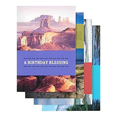 DaySpring Birthday Boxed Greeting Cards w Embossed Envelopes - Adventure, 12 Count (77548) by