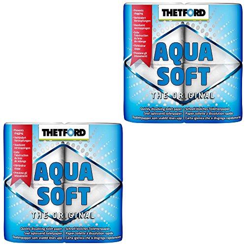 Thetford 2X Camping Toilettenpapier Aqua Soft WC Papier -
