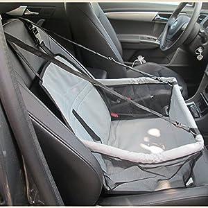 Buwico wasserdichter Sicherheitssitz für den Transport von Katze/Hund im Auto, mit Sicherheitsgurt und Sitzmatte
