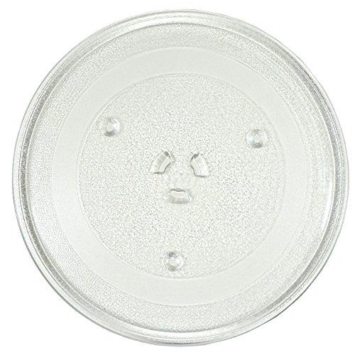 HQRP 11-1/Glas-Plattenteller für 10,2cm Tablett für GE WB49X 10097ps651544WB49X 10034WB39X 78Mikrowelle Kochen Teller + HQRP Untersetzer