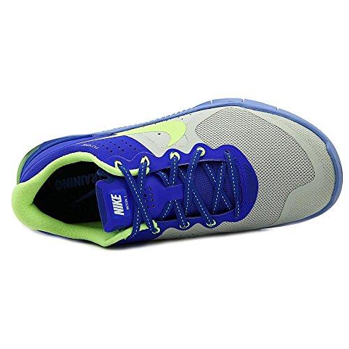 Nike Wmns Metcon 2, Chaussures de Gymnastique Femme Argent - Plateado (Pr Pltnm / Ghst Grn-Rcr Bl-Chlk)