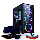 Fierce Venom RGB Gaming PC Bundeln - Schnell 3.8GHz Quad-Core AMD Athlon X4 950, 240GB SSD, 1TB HDD, 8GB 2400MHz, NVIDIA GeForce GTX 1050 Ti 4GB, Windows 10, Tastatur (QWERTZ), Maus 1105815