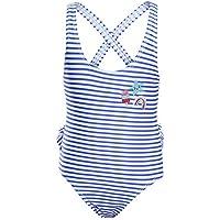 Liuzecai Trajes de baño Lindo Los niños de los bebés de una Pieza del Traje de baño del Traje de baño de la Colmena Floral Trajes de baño Ropa de Playa para Las niñas Niños (Color : Blue, Size : S)