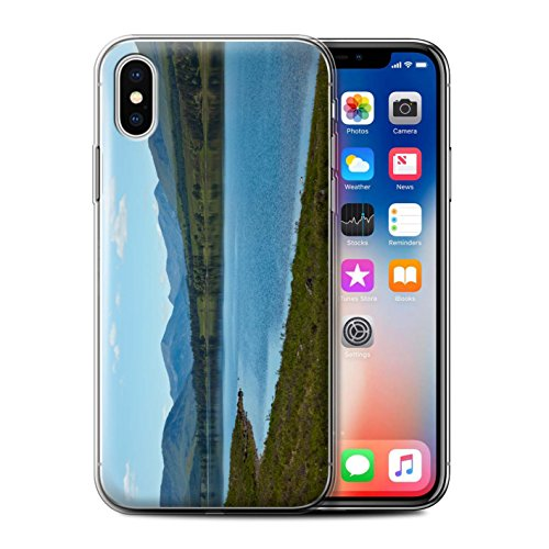 Stuff4 Gel TPU Hülle / Case für Apple iPhone X/10 / Strom Muster / Schottisch Landschaft Kollektion Loch/Tal