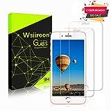 wsiiroon [2 Stück iPhone 7 Plus / 8 Plus Panzerglas Schutzfolie, Displayschutzfolie mit HD Transparent, 9H Härtegrad, Anti-Öl, Wasserdicht, Kratzfest und Blasenfrei mit 3D Touch Kompatibel