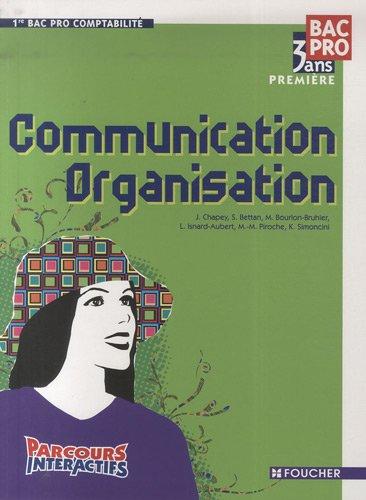 Communication Organisation 1re Bac Pro Comptabilité