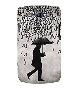 FUSON Musical Notes Rain 3D Hard Polycarbonate Designer Back Case Cover for Samsung Galaxy S3 I9300 :: Samsung I9305 Galaxy S Iii :: Samsung Galaxy S Iii Lte