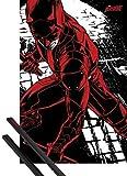 1art1 Poster + Hanger: Daredevil Poster (91x61 cm) Fight Inklusive EIN Paar Posterleisten, Schwarz