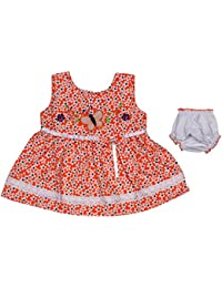 Ole Baby Butterfly Print Organic Cotton Baby Girl Clothes Checks Lace Princess Frock 0-6 Months