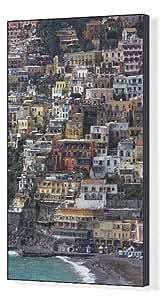 Toile colorée imprimée de la ville de falaise Positano perché sur la côte à côte (Costiera