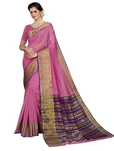 Pisara Women'S Silk Saree With Blouse Piece,Pink