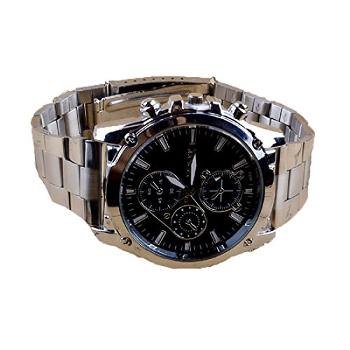 Amlaiworld Hommes d'affaires en Acier Inoxydable Machines Quartz Montre