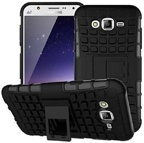 SAMSUNG GALAXY J2 (2016) Tough Military Grade Armor Defender Series Dual Protection Layer Hybrid TPU Kickstand Case Cover By TRENDZER