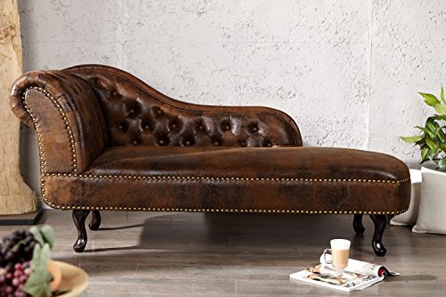 Chesterfield chaise longue / lounge chair antique Casa Padrino