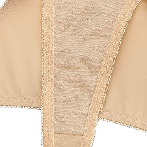 Rinalay Frauen G String Slip Schmetterlings Stickerei Hohle Einfache Transparente Reizvolle Unterhosen Mode Living Bequem Weiches Atmungsaktiv Panty Tanga (Color : 3 Colour 3, Size : 40) - 5