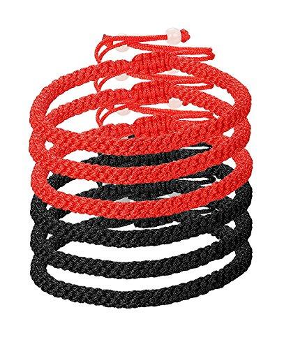 Kabbalah Armbänder für Herren und Damen Armband Handgefertigte Länge Verstellbar (Rot Armband)