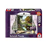 Schmidt Spiele Puzzle 59590 Dominic Davison, Blick in den Schloßgarten, 1000 Teile