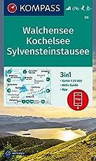 Walchensee, Kochelsee, Sylvensteinstausee: 3in1 Wanderkarte 1:25000 mit Aktiv Guide inklusive Karte zur offline Verwendung in der KOMPASS-App. ... Langlaufen. (KOMPASS-Wanderkarten, Band 6)