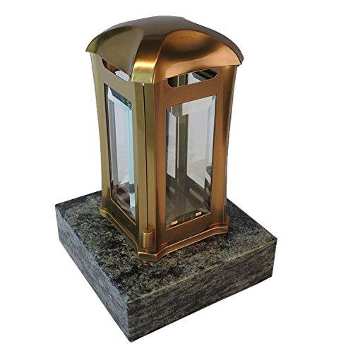 designgrab aml5agb1oliv Lampe tombale Venezia en Acier Inoxydable - Bronze, Doré, 13 x 13 x 24 cm