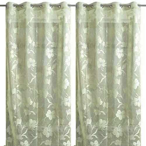 check MRP of sheer curtains green Handtex Home