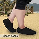 Generic Unisex Sports Socks Water Beach Pool Dance Swim Surf Shoes-Black-parent