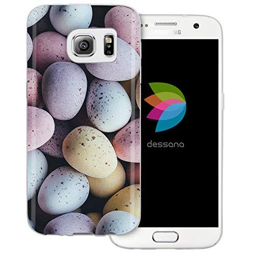 dessana Candy Süßigkeiten Transparente Schutzhülle Handy Case Cover Tasche für Samsung Galaxy S7 Oster Eier