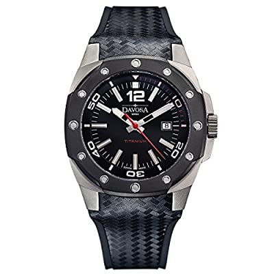Davosa Swiss Titanium 16156155 Analog Men's Wrist Watch, Black