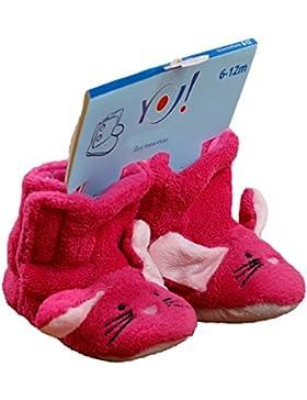 Flauschige Babyschuhe Winter Häschen pink OB-005 6-12 Monate