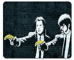 1art1 Banksy - Vincent Und Jules, Bananen-Pistolen Mauspad 23 x 19 cm