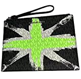 Michael Kors London Signature X-Large Clutch Wristlet - Neon Green