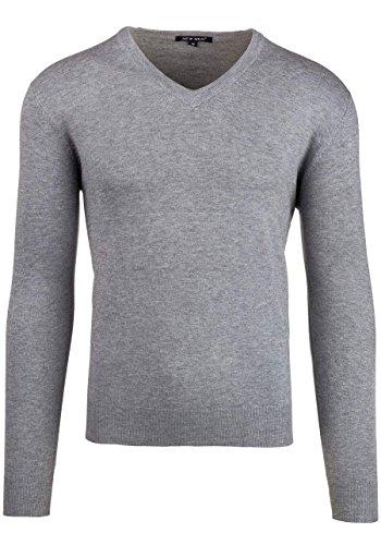 BOLF Herren Pullover Sweater Sweatshirt Strickpullover Pulli Slim Mix 5E5 Motiv Grau_8001