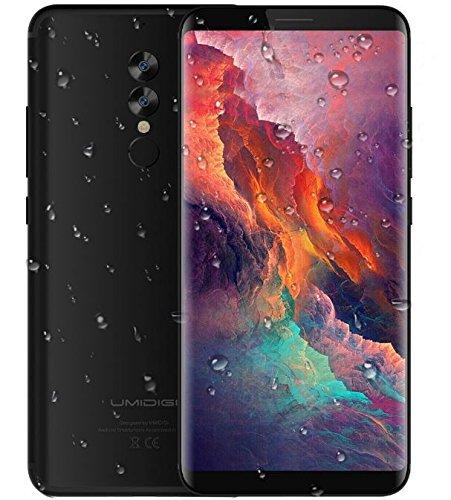 UMIDIGI S2 Pro - 6 Zoll FHD (18: 9-Verhältnis Vollbild) Android 4G Smartphone, Gesichtserkennung, Octa Core 2,6 GHz 6 GB + 128 GB, Triple-Kameras, 5100mAh Ultra Slim - Schwarz