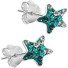 1 paio orecchini Soul-Cats ® 925 sterling stella d'argento bambini Strasburgo , colore: turchese
