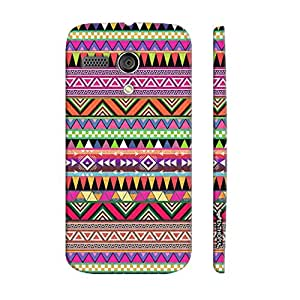 Motorola Moto G 1st Gen THREE CORNERED AZTEC designer mobile hard shell case by Enthopia