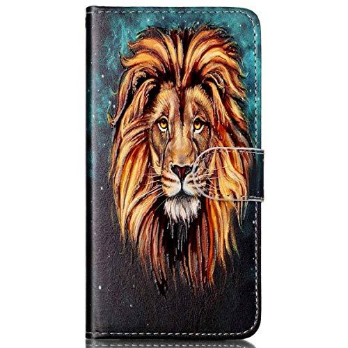 Preisvergleich Produktbild kompatibel mit Galaxy S7 Hülle, Galaxy S7 Schutzhülle, Galaxy S7 Leder Tasche, Surakey Lederhülle Galaxy S7 PU Leder Flip Case Brieftasche Hülle Wallet Tasche Case für Galaxy S7, Lion