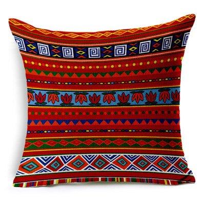 MAYUAN520 Zierkissen Vintage Baumwolle Afrika Geometrie Stripe Wave Polsterbezüge Böhmischen Dekorative Kissen Sofa Kissenbezüge Produkt Werfen, Beige, Rot -