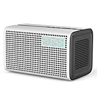 GGMM E3 Smart Speakers System, Wireless Multi-Room Play Audio Speaker, WiFi+Bluetooth Stereo Sound with Wifi Repeater, LED Clock and USB Charging Port for iPhone and Android Devices, Airplay, Spotify (White)