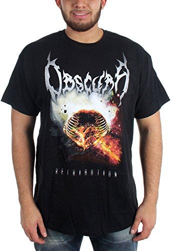 Obscura-Retribution-Maglietta da uomo nero Large