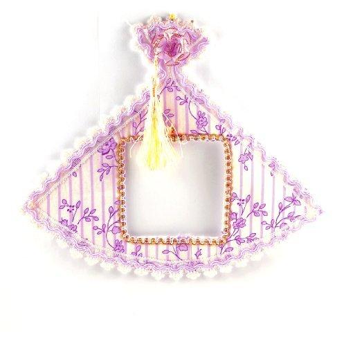 Light Pink Bloemen Streeppatroon White Lace Edge waaiervormige kap schakelaar plaat (White Kaps)