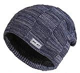 GG ST Beanie Mütze Herren & Damen Winter Knit Warmen Hut Skimütze Slouchy Strickmütze Fleecefutter Skull Cap