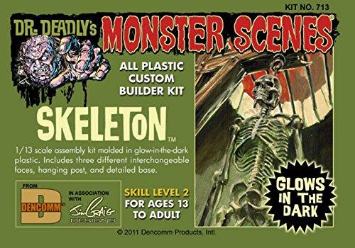Dr. Deadlys Monster Scenes Skeleton Glow in The Dark 1/13 Dencomm