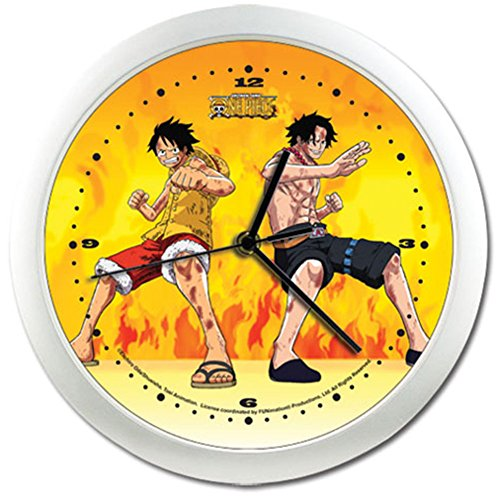 One Piece Luffy and Ace - Reloj De Pared