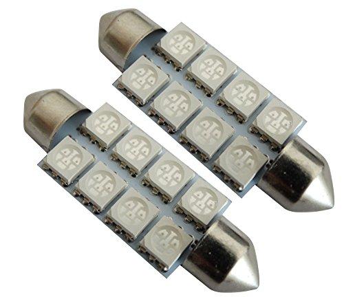 AERZETIX 10x Ampoule T10 W5W 12V 4LED SMD Bleu veilleuses /éclairage int/érieur Plaque dimmatriculation seuils de Porte plafonnier Pieds Lecteur de Carte Coffre Compartiment Moteur