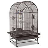 Montana Cages ®   Vogelkäfig, Sittichkäfig, Käfig für Finken, Kanarien und Sittiche MIAMI Voliere in Hammerschlag antik